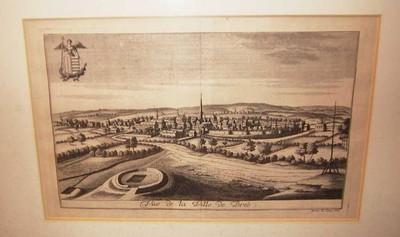 Remacle Le Loup (1694-1746), Vue de la Ville de Bree, 1740, papier, kopergravure.