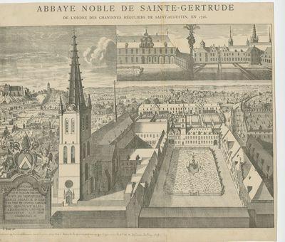 Abbaye Noble de Sainte-Gertrude de l'ordre des Chanoines Réguliers de Saint-Augustin, en 1726