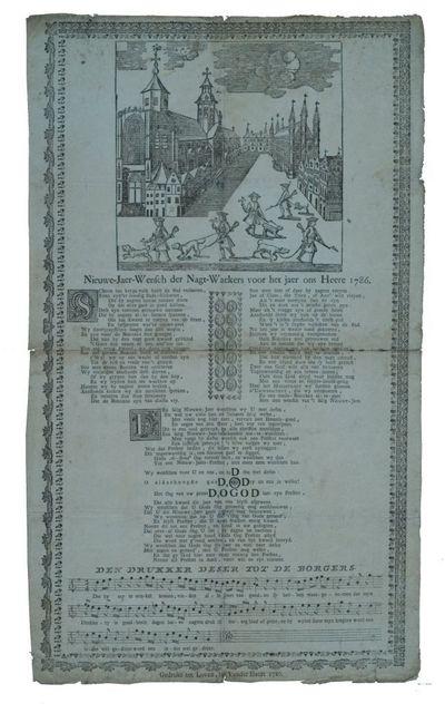 Nieuwe-jaer-wensch der nagt-waekers voor het jaer ons Heere 1786