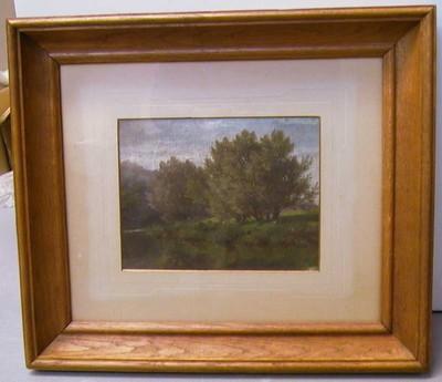 André Plumot (1829-1906), Landschap, s.d., olie op doek.