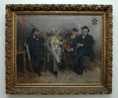 Léon Philippet (1843-1906), Le vainqueur du match 1890-1893, 1895, olie op doek.