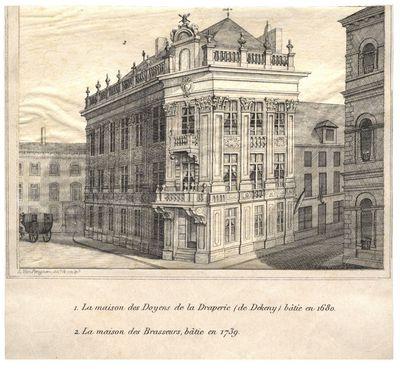 La maison des Doyens de la Draperie (de Dekeny) bâtie en 1680. La maison des Brasseurs, bâtie en 1739