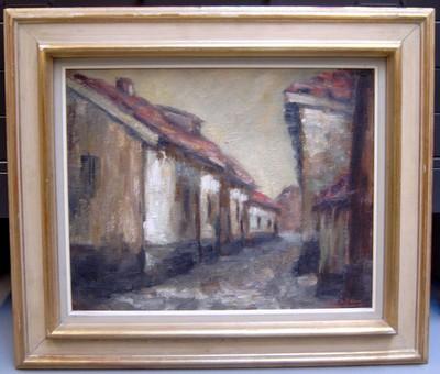 Josy-Anne Pirson (1911-1979), Grote Capucienenstraat, 1958, olie op doek.