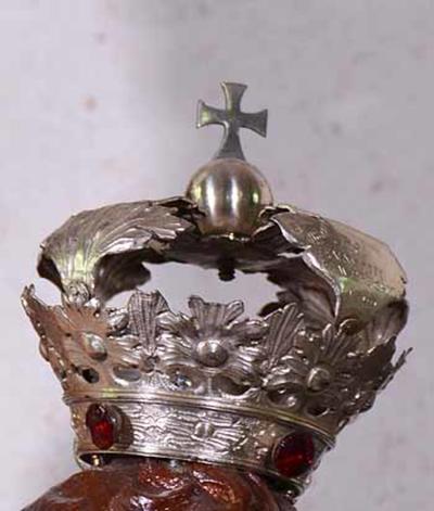 Kroon voor kindje Jezus