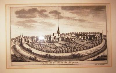Remacle Le Loup (1694-1746), Vue de la Ville de Hamont, ca. 1740, papier, kopergravure.