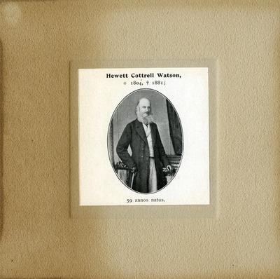 [PORTRAIT] Hewett Cottrell Watson