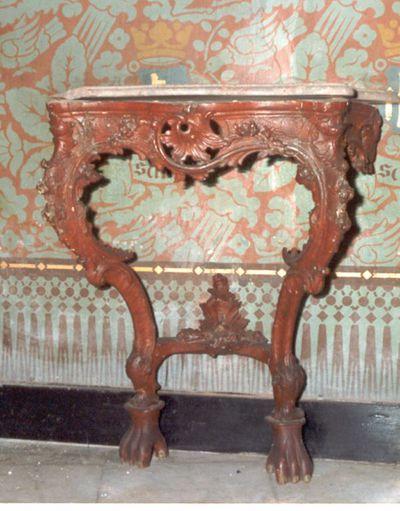 tafel - credenstafel in roodbruin geverfd hout
