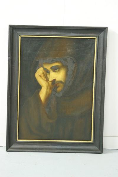 Franciscaan in meditatie