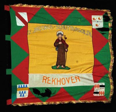 Vlag van schuttersgilde Sint-Jacobus Rekhoven 1960