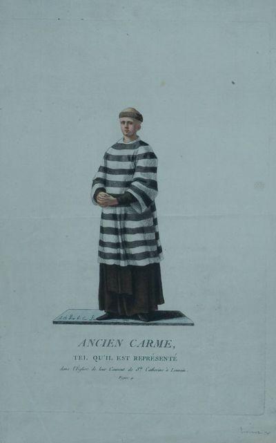 Ancien Carme, tel qu'il est représenté dans l'Eglise de leur Couvent de Ste. Catherine à Louvain