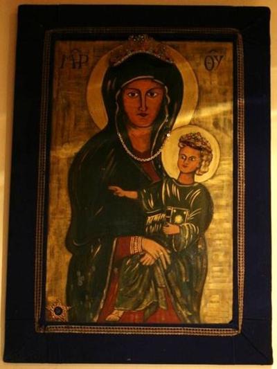 Icoon van Maria met kind