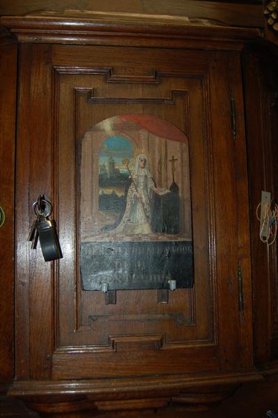 schilderij op hout H. Gertrudis