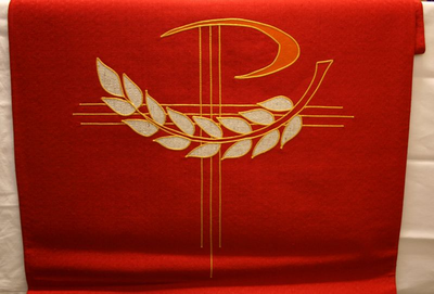 Rood altaarantependium en lezenaarsantependium