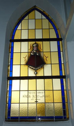 Glasraam van Kind Jezus van Praag