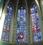 Calvarie, bewening van Christus en de vier evangelisten