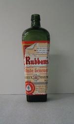 Kelderfles 'Oude Genever' voor Rubbens, Zele, ca. 1970