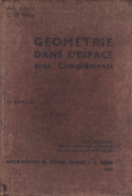 Geometrie dans l´espace