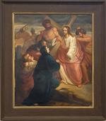 Schilderij kruisweg vierde statie