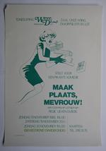 Affiche voor de komedie 'Maak plaats, mevrouw!'