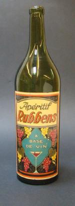 Fles 'Apéritif Rubbens' voor Rubbens, Zele, ca. 1950