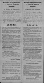 Affiche van 27 juli 1919 - eigenaars van door Duitsers opgeëiste paarden vergoeden.