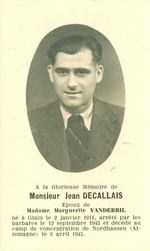 Bidprent Jean Decallais.