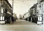 Foto: straatversiering: Kempische Steenweg (Virga Jessefeesten, Hasselt, 1947)