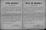 Stad Hasselt, affiche van 29 november 1918 - straffen voor het verbergen van vijandelijke spionnen of soldaten.
