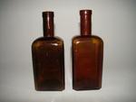 Bruine vierkante bitterfles, ca. 1900-1950