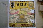 Vlag van de V.O.S., de Vlaamse Oud Strijdersbond van Alsemberg 1914-1918