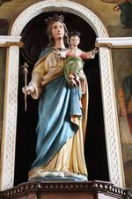 Beeld van Maria met het kind Jezus
