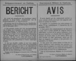 Hasselt, affiche van 14 november 1918 - verbod op handel in producten aangeschaft in troepenmagazijnen of legerkantines.