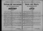 Hasselt, affiche van 3 april 1919 - handel in levensnoodzakelijke producten.