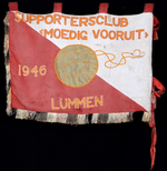Banier supportersclub Moedig vooruit