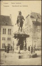 Tongres Statue Ambiorix Tongeren. Standbeeld van Ambiorix
