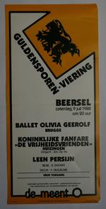 Affiche van de Guldensporenviering van de Cultuurraad Beersel in 1988