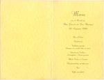 Menukaart huwelijk Toos Hermens - Theo Linssen