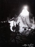 Foto: straatversiering: Onze-Lieve-Vrouw Ster der Zee Windmolenstraat (Virga Jessefeesten, Hasselt, 1947)