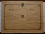 Oorkonde toekenning wapenschild gemeente Lot
