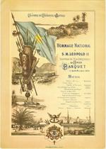 Menukaart banket ter ere van koning Leopold II