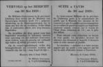 Hasselt, affiche van 4 juni 1919 - prijsvermindering voor begeleiders van invaliden bij de spoorwegen.