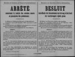Brussel, affiche van 28 februari 1919 - bekendmaking modaliteiten voor levering in beslag genomen graan.