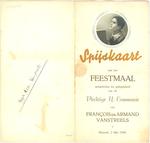 Menukaart plechtige communie François en Armand Vanstreels