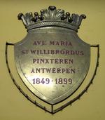 Ex voto van het Mariagenootschap van de Sint-Willibrorduskerk in Antwerpen