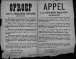 Hasselt, affiche van 26 november 1918 - Belgische soldaten hartelijk verwelkomen.