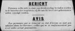 Hasselt, affiche - dronken personen worden niet tot burelen toegelaten.