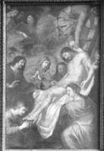 Jezus wordt van het kruis afgenomen