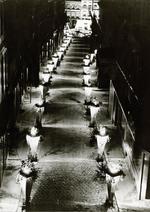Foto: straatversiering: Botermarkt (Virga Jessefeesten, Hasselt, 1947)