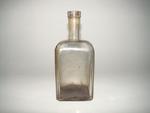 Vierkante bitterfles in blank glas, ca. 1900-1950