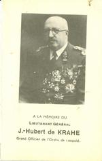 Bidprent J.-Hubert de Krahe.